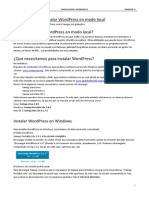 Instalar WordPress en Modo Local