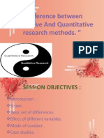 Quantitative Research vs Qualitative Research
