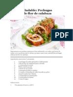 Receta Saludable-pechugas Con Flor de Calabaza