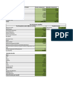 Tax Calculation Sheet