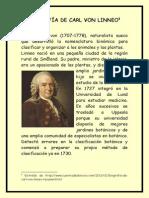 Biografía de Carl Von Linneo