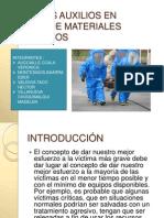 PRIMEROS AUXILIOS EN MANEJO DE MATERIALES PELIGROSOS.pptx