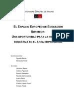 Libro Espacio Europeo de Educación Superior Estudiado