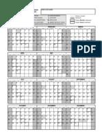 Attendance Calendar 2013