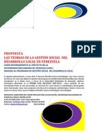 Las Teoris de La Gestion Social Del Desarrollo Local en Venezuela