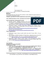 Ementa História e Historiografia Da Saúde 2013