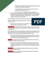 Timeline & Index of Armendariz FOIA Production