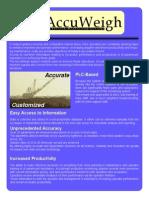 AccuWeigh Flyer