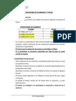 Cronograma de Exámenes y Foros