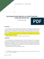 Criterios Validez Investigacion Cualitativa