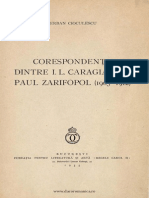 Corespondenta Dintr IL Caragiale Si Paul Zarifopol (1905-1912), Serban Cioculescu, 1935