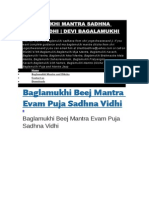 Baglamukhi Puja