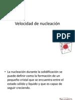 Velocidad de Nucleación