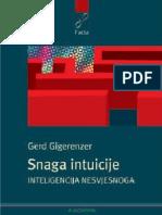 Gerd Gigerenzer - Snaga Intuicije