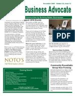 WKACC Newsletter December 2009