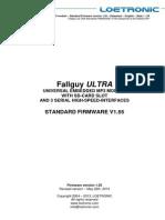 Fallguy ULTRA Standard FIRMWARE V155 Datasheet E 20130522