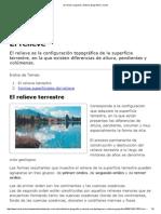 El Relieve _ Lugares y Entorno Geográfico _ Icarito