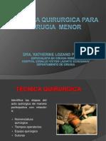 1 Tecnica Quirurgica Para Cirugia Menor