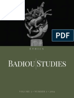 Badiou Studies 3-1 Ethics eBook
