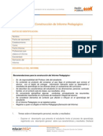Ejemplo de Informe Pedagogico