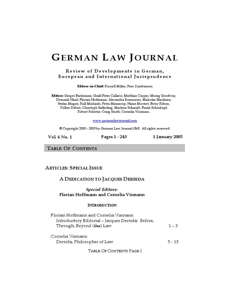 german law journal special issue on derrida deconstruction  derrida spectera of marx scribd er.php #5