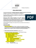 Guidelines for the Final Group Work Product Design and Development