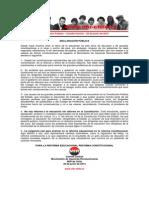 Declaración Pública Comité Central 22 Junio de 2014