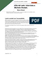Accessibilita Del Web Intervista a Michele Diodati