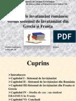 Sistemul de învatamânt românesc versus sistemul de învatamânt din Grecia şi Franţa