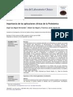 Aplicaciones Clínicas de La Proteómica