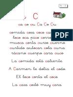 Metodo de Lectoescritura Letra CA Co Cu