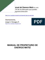 Manual Gratis Daewoo Matiz