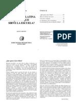601 - Illich, Iván - En América Latina ¿Para Qué Sirve La Escuela