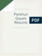 Pankhuri Goyals Resume
