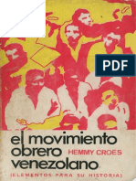 El Movimiento Obrero Venezolano (Elementos para su Historia)