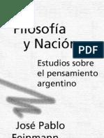 Filosofia y Nacion - Feinmann Jose Pablo