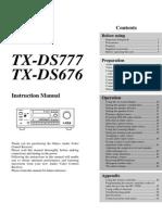 ONKYO TX-ds777 TX-ds676 Manual e