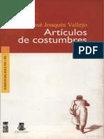 Artículos de Costumbre - José Joaquín Vallejos