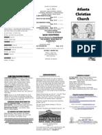 June 15, 2014 Trifold Bulletin