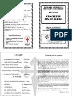Programa Concierto Fin Curso Junio 2014