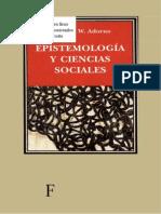 Adorno - Epistemologia y Ciencias Sociales