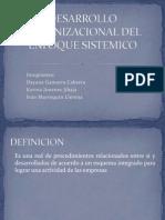 Desarrollo Organizacional Del Enfoque Sistemico