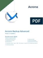 AcronisBackupAdvanced 11.5 Quickstart Es-ES