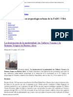 Centro de Arqueología Urbana » La destrucción de la modernidad_ los Talleres Vasena y la Semana Trágica en Buenos Aires.pdf