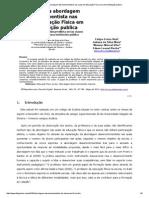 A Inserção Da Abordagem Desenvolvimentista Nas Aulas de Educação Física Em Uma Instituição Publica