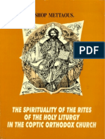 The Spirituality of the Rites of the Holy Liturgy in the Cop