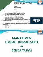 Manajemen Limbah Rs & Benda Tajam