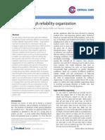 Becoming a High Reliability Organization - Christianson Et Al. - 2011