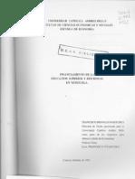 Monaldi Finanzas Educacion Superior Venezuela