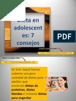 Dieta en Adolescentes, 7 Consejos